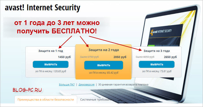 Антивирус Avast Internet Security БЕСПЛАТНО