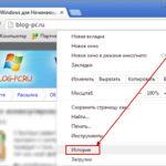 Журнал посещенных сайтов в Хроме (Chrome)