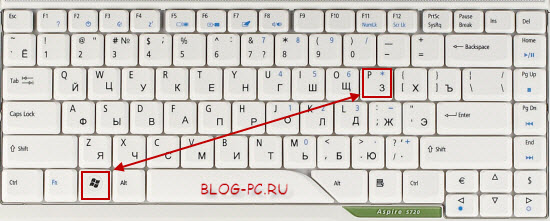 Комбинация включения переключения экранов ноутбука
